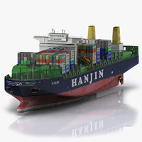 ready container ship boat 3d max