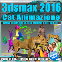 3ds max 2016 Cat Animazione 3 Mesi Subscription