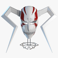 ichigo hollow mask bleach 3d model