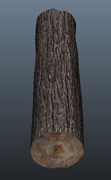 3ds max wooden log