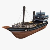 dhow boat indian 3d model