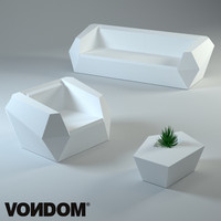 3d model vondom furniture plastic