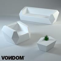 3d model vondom furniture plastic