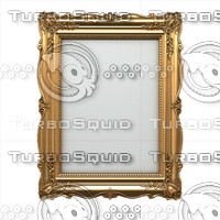 vintage picture frame obj
