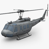 3d bell uh-1h iroquois helicopter