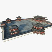chinese architectural palace 3d max