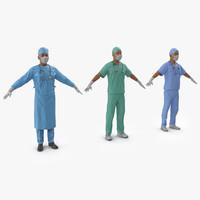male surgeons 3d model