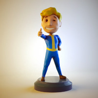 3d vault boy octane model