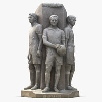 maya monument soccer players