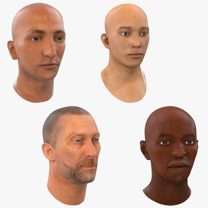 Male Heads Collection 3d models 00.jpg