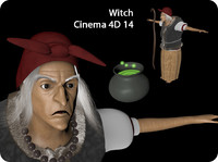 3d witch old model