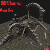 ruin wood 3d model