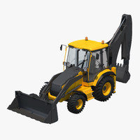backhoe work 3d max
