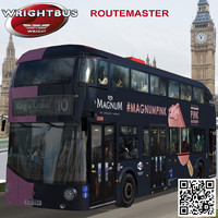 3d model of wrightbus routemaster bus magnum