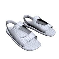 3d model of sneaker footwear