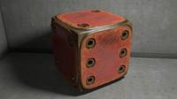 metal cube 3d model