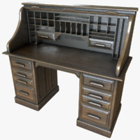 antique desk 3d max