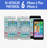 apple iphone 6 colors 3d model