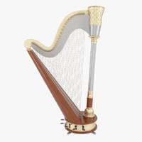 harp wood 3d model