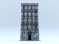 3d model old apartment building