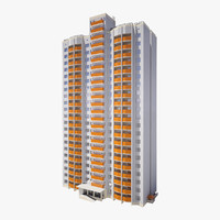 3d residential city building