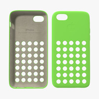 iphone 5c case green 3d model