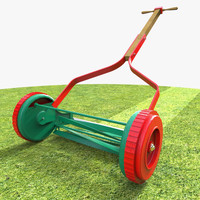 3d model of lawn mower