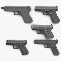 3ds max glock pistols 2
