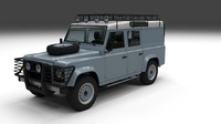 land rover defender 110 3d obj