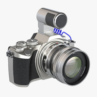 3ds photoreal mirrorless digital camera