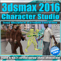 3ds max 2016 Character Studio 3 Mesi Subscription