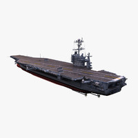 uss aircraft carrier 3d model