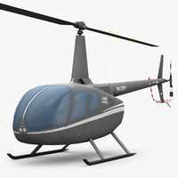 low-poly robinson r66 helicopter 3d model