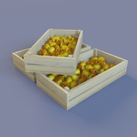 free ripe apples bright 3d model