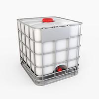 3d model water storage tank