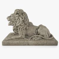 maya stone lion sculpture statue