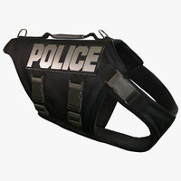 3d police dog body armor model
