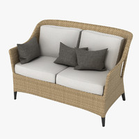 dedon summerland bench 3d model