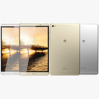 realistic huawei mediapad m2 3d 3ds