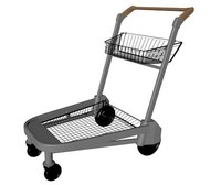 3d model of shopping trolley