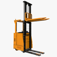 3d rider stacker orange rigged