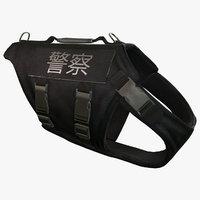police dog body armor obj