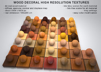 wood decoral maps and materials