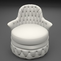 poltrona italia chair 3d max