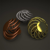 cabinet knobs 3d max