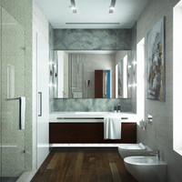 3d model scene bathroom interior