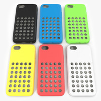 3d model iphone 5c case set