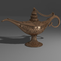 magic oil lamp 3d max