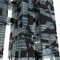 modern futuristic skyscraper 4 max