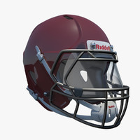 3d model of american football helmet riddell